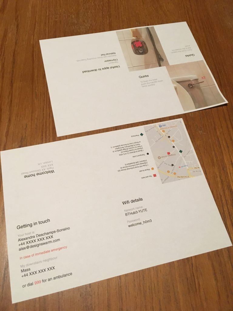 Tiny Useful Things: Welcome booklet