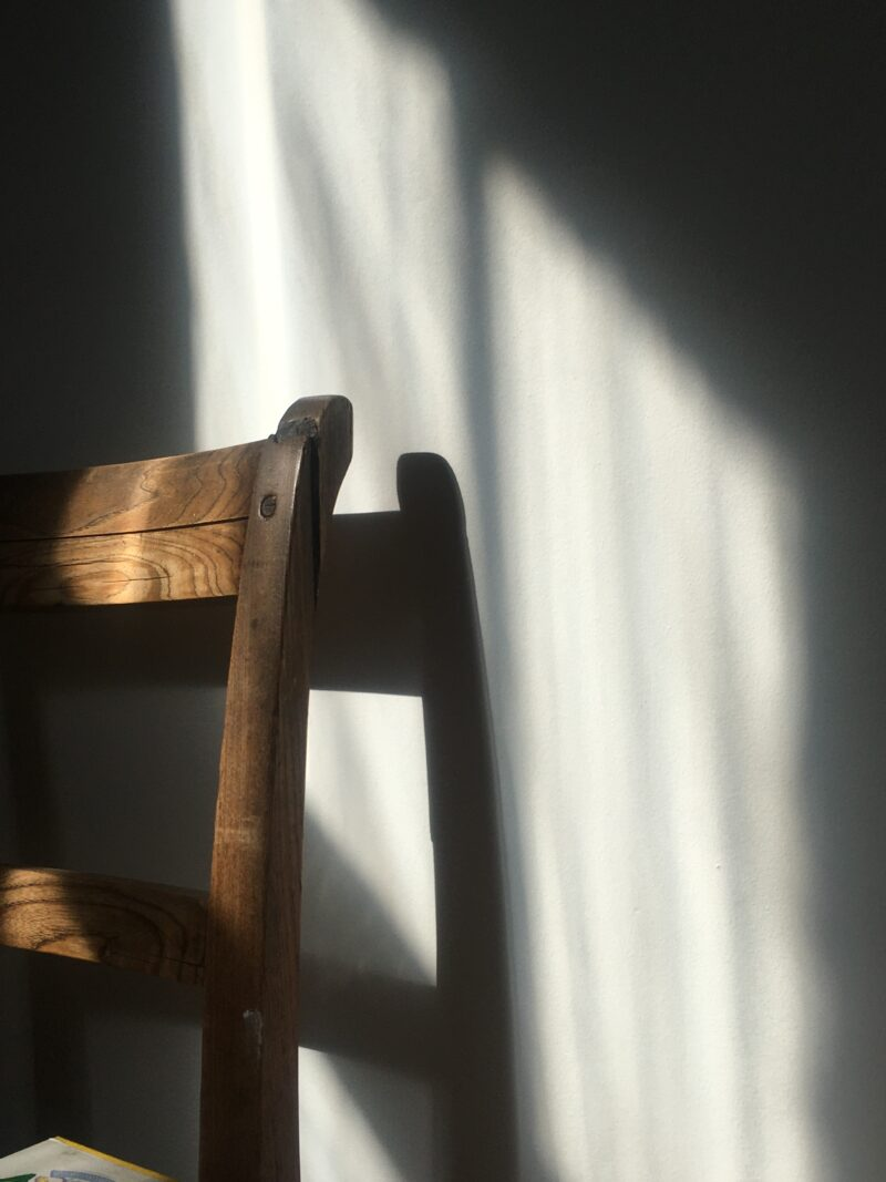 Chair in the afternoon light