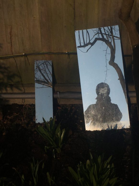 Reflection on some mirrors in my garden.