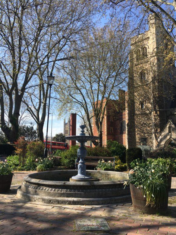 St Mary's Garden next to Lambeth Bridge